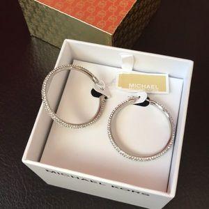 MICHAEL KORS MK Brilliance Silver Tone Earrings